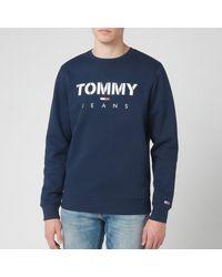 Tommy Hilfiger Novel Logo Sweatshirt - Blue