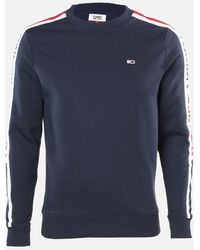 Tommy Hilfiger Branded Tape Sweatshirt - Blue