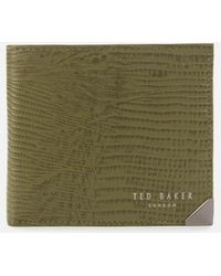 Ted Baker Exotic Print Coin Wallet - Green