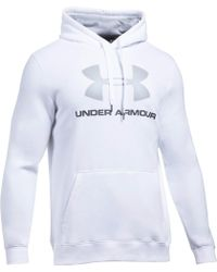 Under Armour - Rival Fitted Graphic Hoody - Lyst