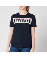 Superdry Rainbow Panel Entry T-shirt - Blue