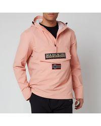 Napapijri Rainforest Sum T Hooded Popover Jacket - Pink