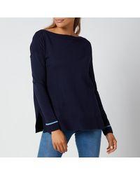 Joules Vivianna Knitted Sweatshirt - Blue