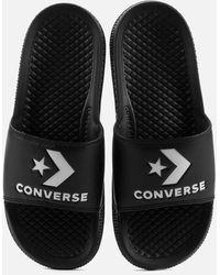 Converse All Star Slide Sandals - Black