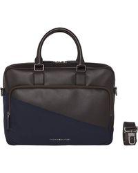 Tommy Hilfiger Diagonal Computer Bag - Black