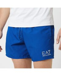 EA7 Sea World Core Boxer Swim Shorts - Blue