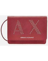 Armani Exchange Kendall Studs Cross Body Bag - Red