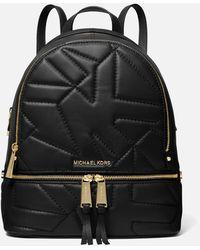 MICHAEL Michael Kors Rhea Backpack Quilted Logo - Black