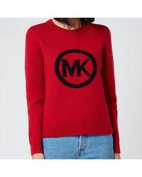 MICHAEL Michael Kors Mk Metallic Jumper - Red