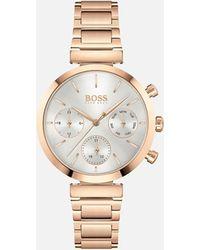 BOSS by Hugo Boss Flawless Metal Link Watch - Metallic