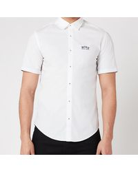 BOSS by Hugo Boss Boss Athleisure Biadia_r Short Sleeve Shirt - White