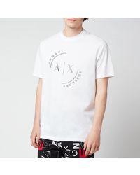 Armani Exchange Ax Circle Logo T-shirt - White