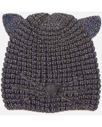 Karl Lagerfeld Choupette Lurex Beanie Hat - Multicolour