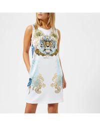 Versace Jeans - Tiger Print T-shirt Dress - Lyst