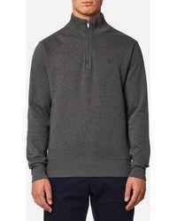 GANT - Sacker Rib Half Zip Sweatshirt - Lyst