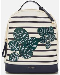 Radley Be-leaf In Yourself Medium Backpack Flapover - White