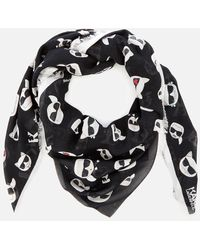 Karl Lagerfeld K/ikonik Allover Scarf - Black