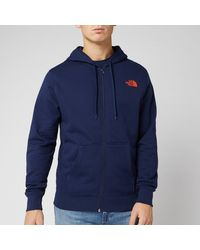 The North Face Open Gate Full Zip Mens Hoodie - Blue
