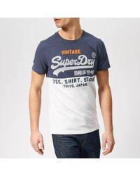 Superdry - Tri Panel T-shirt - Lyst