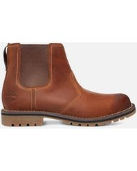 Timberland Larchmont Nubuck Chelsea Boots - Brown