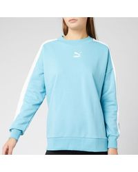PUMA Classics T7 Crew Neck Sweatshirt - Blue
