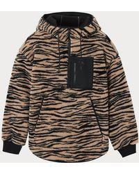Calvin Klein Zebra Sherpa Popover Jacket - Black