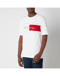 Tommy Hilfiger Relaxed Fit Signature Flag T-shirt - White