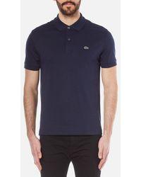 Lacoste Basic Pique Short Sleeve Polo Shirt - Blue