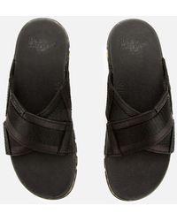 Dr. Martens Athens Carpathian Leather Sandals - Black