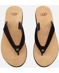 UGG Tawney Flip Flops - Black