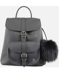 Grafea - Fluffy Fur Pom Backpack - Lyst