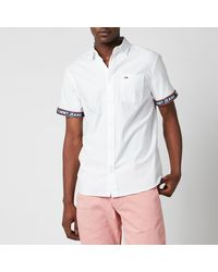 Tommy Hilfiger Tape Short Sleeve Shirt - White