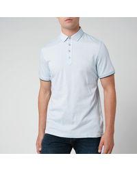 Ted Baker Soya Herringbone Polo Shirt - Blue