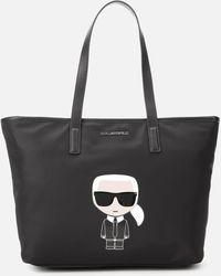 Karl Lagerfeld K/ikonik Nylon Tote - Black