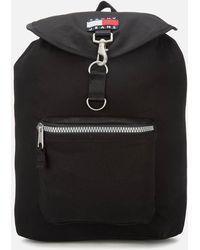 Tommy Hilfiger Heritage Flap Backpack - Black