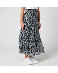 Superdry Margaux Maxi Skirt - Blue