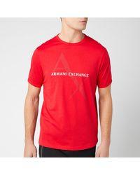 Armani Exchange Ax Large Logo T-shirt - Red