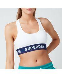 Superdry Sportstyle Essential Crop Bra - White