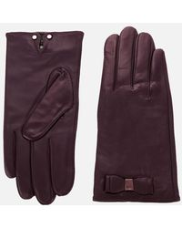 Ted Baker Bow Detail Leather Gloves - Multicolour