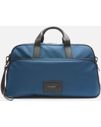 Ted Baker Legally Travel Nylon Holdall Bag - Blue