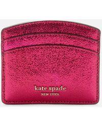 Kate Spade Spencer Metallic Card Holder - Pink