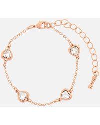 Ted Baker Heniee Crystal Heart Bracelet - Metallic