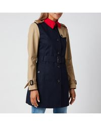 Tommy Hilfiger Sb Cotton Trench Coat - Blue