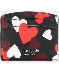 Kate Spade Spencer Hearts Card Holder - Red