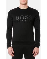 BOSS Green Salbo Crew Neck Sweatshirt - Black