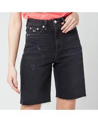 Tommy Hilfiger Harper Denim Bermuda Shorts - Black