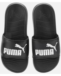 PUMA Popcat 20 Slide Sandals - Black