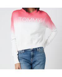 Tommy Hilfiger Logo Ombre Sweatshirt - Pink