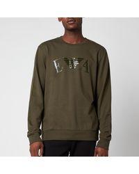 Emporio Armani - Iconic Terry Crew Neck Sweatshirt - Lyst