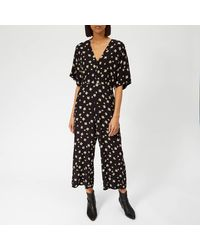 Whistles Edelweiss Button Jumpsuit - Black